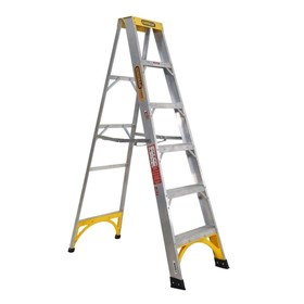 Aluminium Single Sided Step Ladder 150 kg 6ft 1.8m