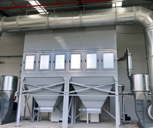 The MDC Polex Dust collector with high efficiency fans