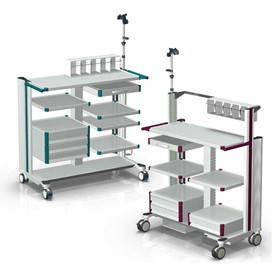 Equipment Carts | Endo Cart Light Gray