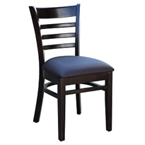 Florence Chair Vinyl Seat | Indoor Timber Dining Chair