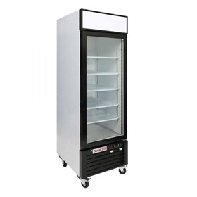 Single Glass Door Upright Display Freezer