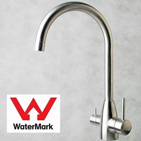 Modern Goose Neck Stainless Steel 3 way Mixer Tap K-5A