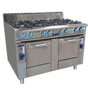 8 Burner Cooktop with 2 Gas Ovens | Oxford