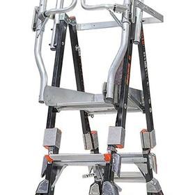 Adjustable Fibreglass Platform Ladders | Compact Cage