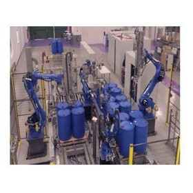Fully Automatic Robotic Drum/IBC Filling System - RF4