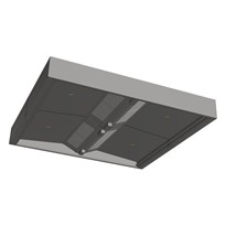 Commercial Kitchen Island V bank Canopy SIAC-V