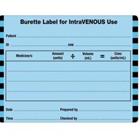 Injectable Medicine Labels Intravenous Burette