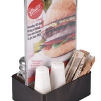 A5 Menu Holder with Condiment Caddy