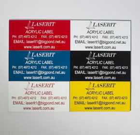 Acrylic Labels Laser Marked | Laserit