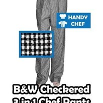 Chef Pants Checkered 3 in 1 Chef Pant