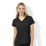6113 WonderTech Womens V-Neck Cool Stretch Medical Scrubs Top