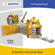 UK Enerpat Horizontal Automatic Press Baler Machine for PET Bottles