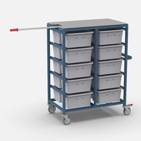 20 Tub Personal Linen Laundry Trolley