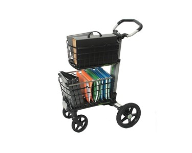 Baskets provide plenty of storage for weekly shopping trips