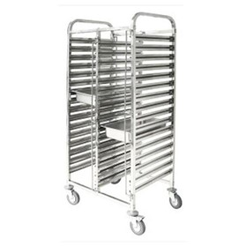Double Gastronorm Trolley 740 x 550 x 1735mm