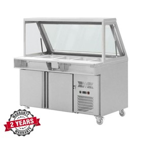 Salad Prep Refrigerated Counter Two Doors