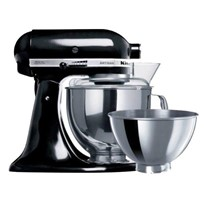 KitchenAid Tilt-Head Stand Mixer 4.8Lt + 2.8Lt S/S Bowl - KSM160