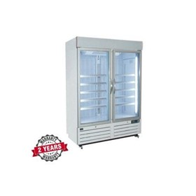 Display Upright Double Glass Door Freezer