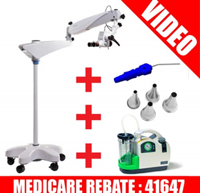 Ear Toilet Package | Microscope, Suction Unit, Sim Micro Cannula, Ear