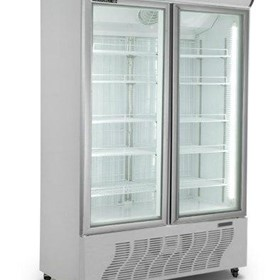 Huxford Glass Double Door Display Freezer - HF800