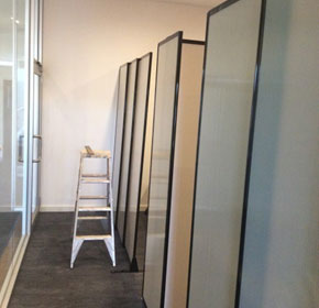 How sliding office partitions can create cubicles for therapy sessions