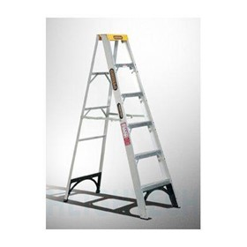 Single Sided Step Ladder Aluminium 150kg Industrial 2.4m (8ft) 11kg