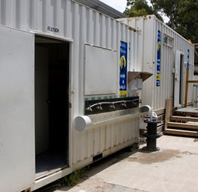 Portable Toilet And Shower Building