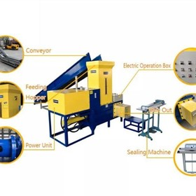 Automatic Bagging Baler for dried lucerne Bagging Press Machine