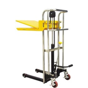Platform & Fork Manual Stacker- 1.5m Lift / 400kg Capacity