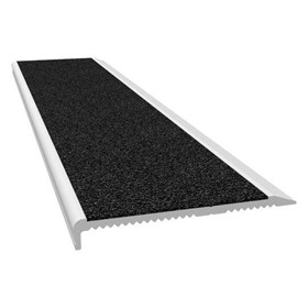Aluminium Stair Nosing - M Series Clear Anodised Black