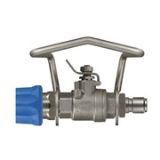 Blue Ball Valve with Couplings