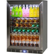 Rhino Alfresco Bar Fridge Glass Door Outdoor Rated 129L| GSP1HL-840-SS