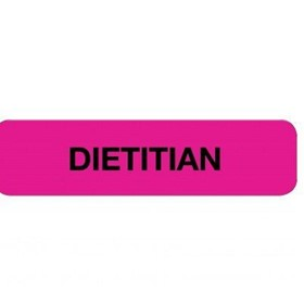 Health Professional Chart Labels Dietitian