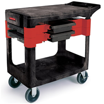 Trade Cart 6180 | With 2 Parts Boxes and 4 Parts Bins | Rubbermaid