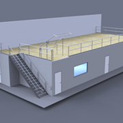 Mezzanine Offices | Office Floor Under Raised Storage Area