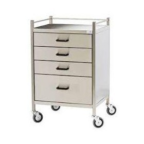 Stainless Steel 4-Drawer Trolley
