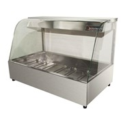 Curved Glass Hot Food Display | W.HFC26