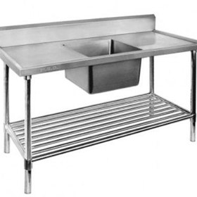 Single Centre Sink Bench & Pot Undershelf SSB6-1500C/A