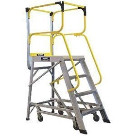 "Industrial Ladders | Order Picker Ladders | ""2 in 1"""