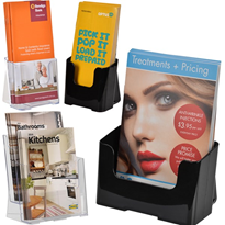 Brochure Pamphlet Counter Display Holder - DL, A5 & A4 Pockets