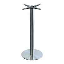 Alexi BAR Table Base | Stainless Steel Disk Base
