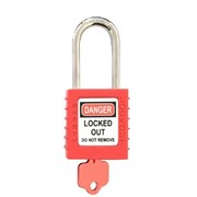 Safety Padlock | 52MM Red Shackle