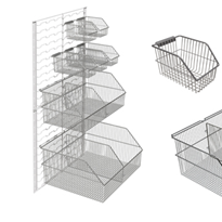 Rapini Wall Panel Basket System