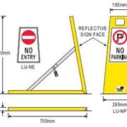 Fold Down Safety Bollards