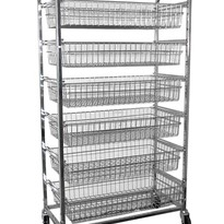 KSS 6 Basket Horizontal Bakery Trolley