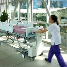 Gzunda GZ10SL - Battery Powered Hospital Bed Mover | Electrodrive