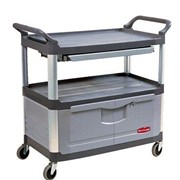 Rubbermaid Xtra Utility Cart | Lockable Doors and Sliding Drawers