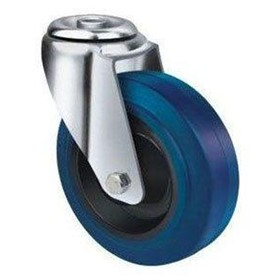 Blue Rubber Castors | TE21ENR_H | Castors & Trolley Wheels