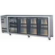 4 Glass Door Backbar Chillers - Sliding Doors | BB780 4SL