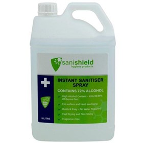 SSS5L Hand Sanitiser Spray - 5 Litre Bottle